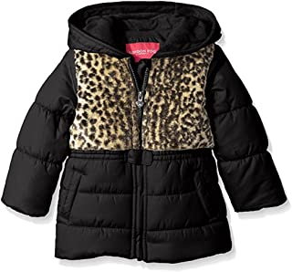 """London Fog Baby Girls' """"Leopard Chest"""" Insulated Jacket"""