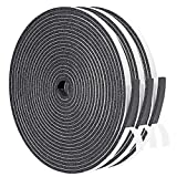 Foam Tape 3 Strips Total 50 Feet Long 1/4 Inch Wide X 1/8 Inch Thick, Weather Stripping for Doors and Window High Density Foam Seal Tape Sliding Door Weather Strip, 3 X 16.5 Ft Each