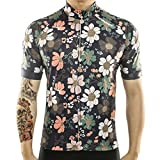 Racmmer Mens Breathable Short Sleeve Cycling Jersey Ultra-Light Cycling Clothing