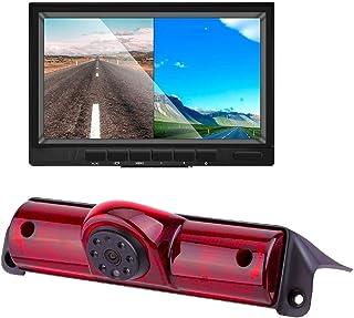 Misayaee Car سوم پشت بام چراغ ترمز چراغ ترمز دوربین چراغ ترمز عقب دوربین پشتیبان گیری دوربین 7.0 اینچ TFT نمایشگر مانیتور برای Transporter Express / Savana 2003-2018 / Explorer Vans / Express
