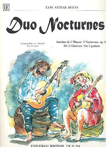 DUO NOCTURNES - arrangiert für zwei Gitarren [Noten / Sheetmusic] Komponist: L'HOYER DE ANTOINE