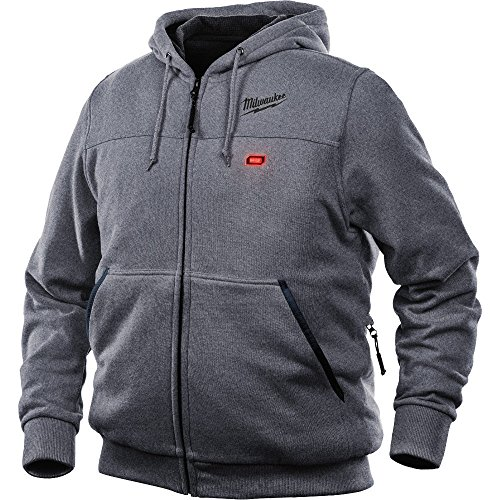 Milwaukee Hoodie M12 12V Lithium-Ion Heated Jacket Front and Back Heat Zones - Battery Not Included - All Sizes and Colors (2X-Large, Gray)