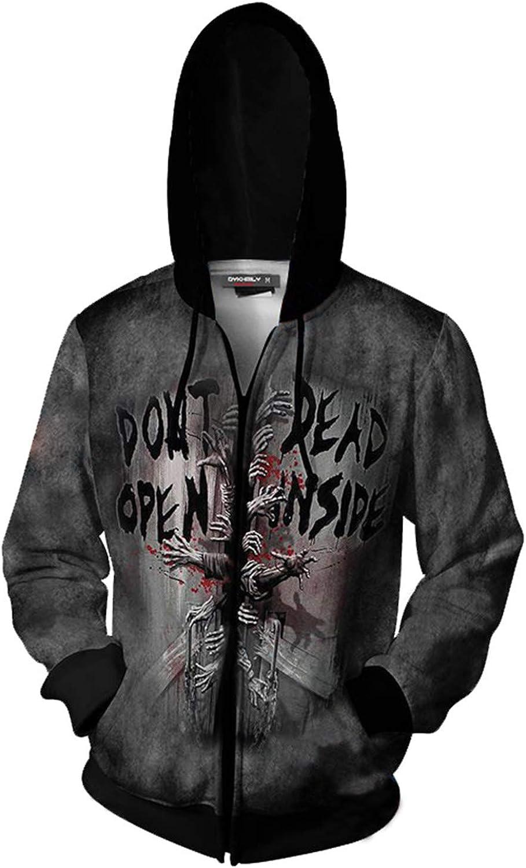 The Walking Dead Print Hoodie Fleece zip up Coat Unisex Warm Jacket Sweatshirt