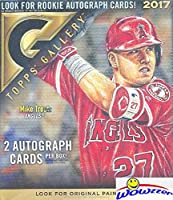 2017 Topps Gallery Baseball HUGE Factory Sealed 20 Pack HOBBY Box with (2) AUTOGRAPHS! Look for Autos of Aaron Judge, Mike Trout, Sandy Koufax, Hank Aaron, Ken Griffey & Many More! WOWZZER!