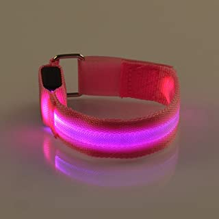 OxoxO LED Armband USB Rechargeable Flashing Safety Light Reflective Lights Glow Band Strap Ankle Band for Running, Cycling or Walking at Night