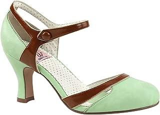 Buffalo High Heels Platform Lack Leder Pin Up Mint 673X 041