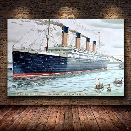 Puzzle 1000 piezas Pintura clásica del arte de la película de la navegación del titanic puzzle 1000 piezas animales Juego de habilidad para toda la familia, colorido juego de ubica50x75cm(20x30inch)