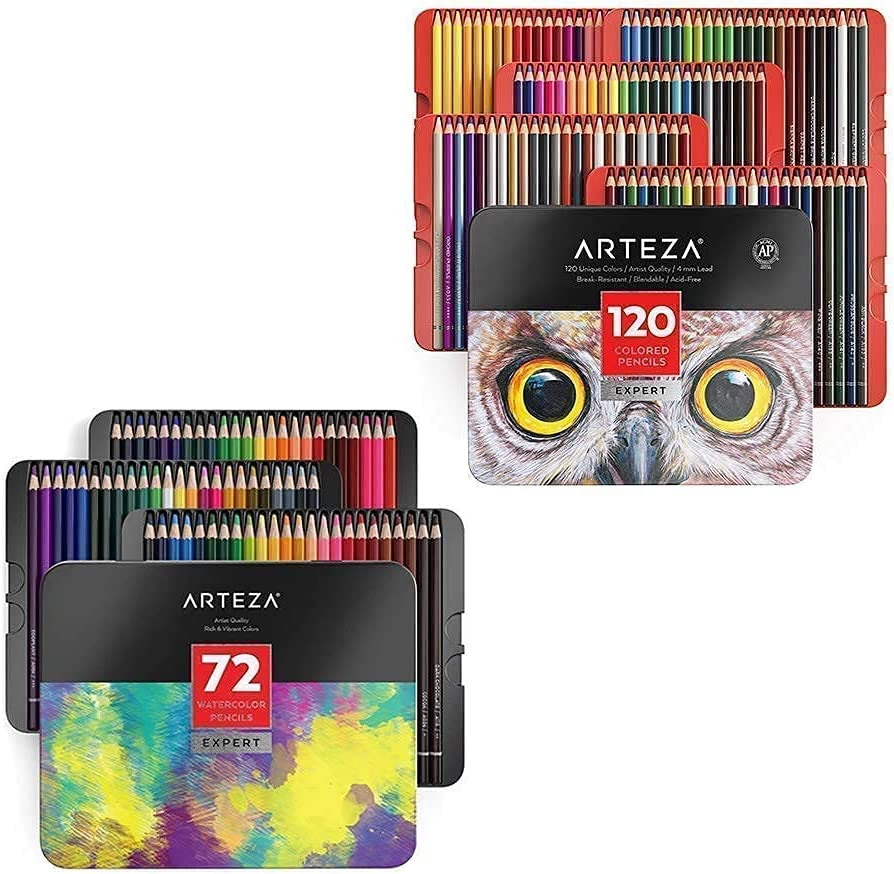 Arteza Colored and Watercolor Pencils Bundle Drawing Artist SEAL limited latest product for