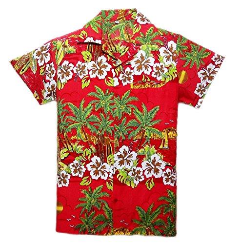 SAITARK Mens Hawaiian Shirt STAG Beach Hawaii Aloha Party Summer Holiday Fancy Bliss