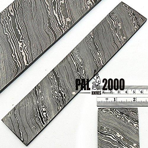 PAL 2000 handgesmeed torsiemodel met de hand met afbeeldingen van damaststaal 30 cm x 5 cm x 2 mm/bar handgemaakt op maat voor de productie van sieraden voor messen met bestek en andere bezem 9503