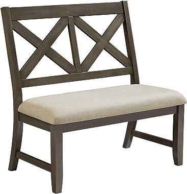 "Standard Furniture 16689 Omaha Bench 40""W x 21""D x 40""H Grey"
