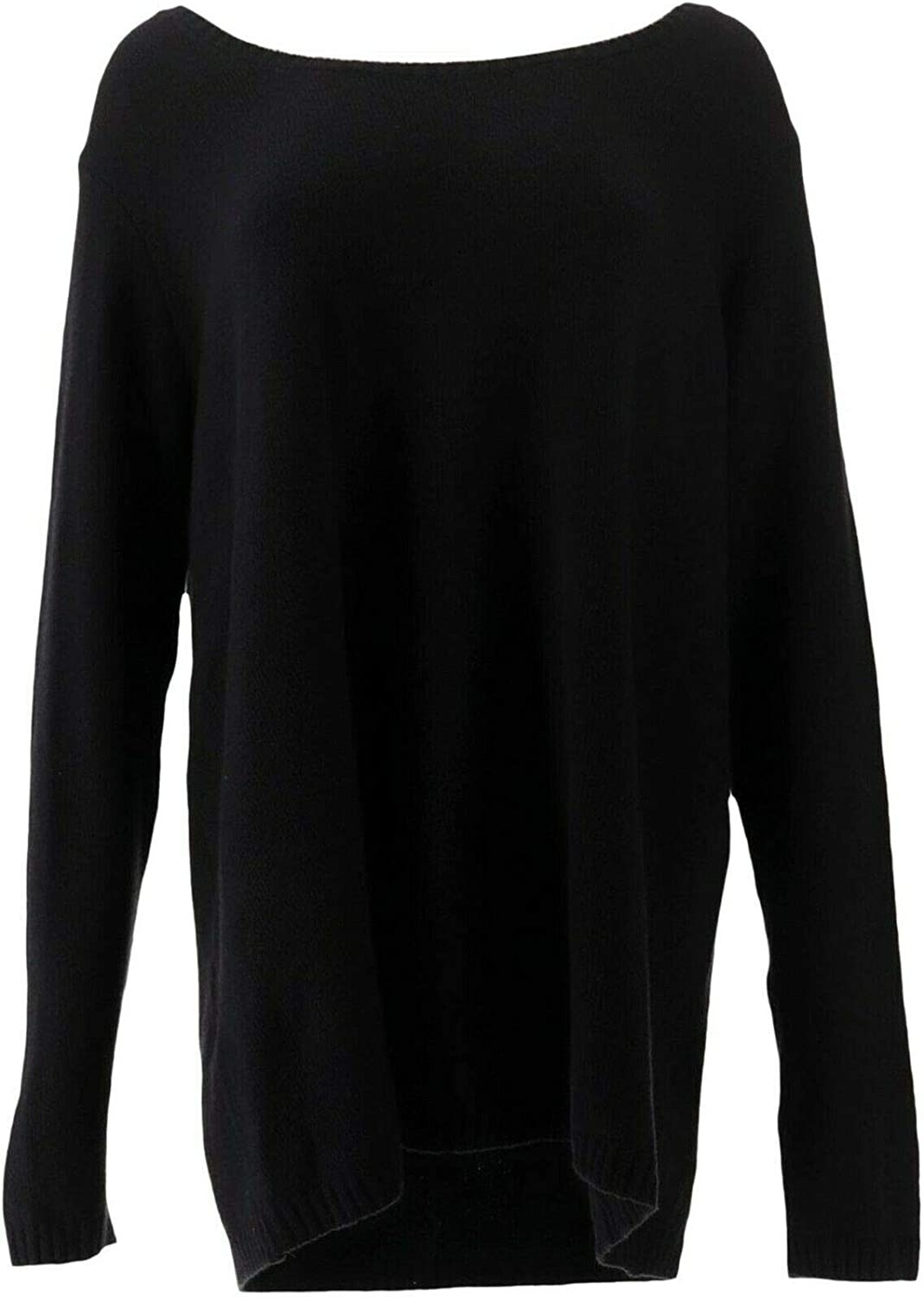 Du Jour Long Reservation SLV Sweater Tunic Black A surprise price is realized Large Knot Back A347575