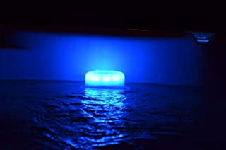 Smart Lite LED underwater pool light. Mounts to pool stairs, steps and deck or floating