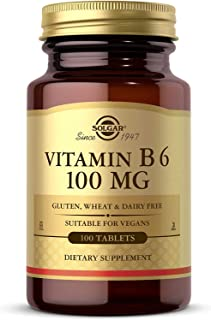 Solgar Vitamin B6 100 mg, 100 Tablets - Supports Energy Metabolism, Heart Health & Healthy Nervous System - B Complex Supp...