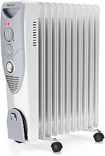 Pro Breeze® Radiador de Aceite 2500W, 11 Elementos - Calentador Eléctrico Portátil - Temporizador Incorporado, 3 Configuraciones de Calor, Termostato y Apagado Automático de Seguridad