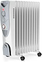 Pro Breeze® 2500W Oil Filled Radiator, 11 Fin - Portable Electric Heater - Built-in Timer, 3 Heat Settings, Thermostat and Safety Cut-Off