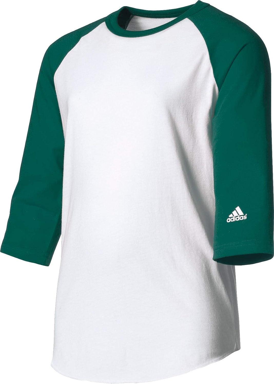 Amazon.com : adidas Youth Triple Stripe ¾ Sleeve Baseball Practice ...