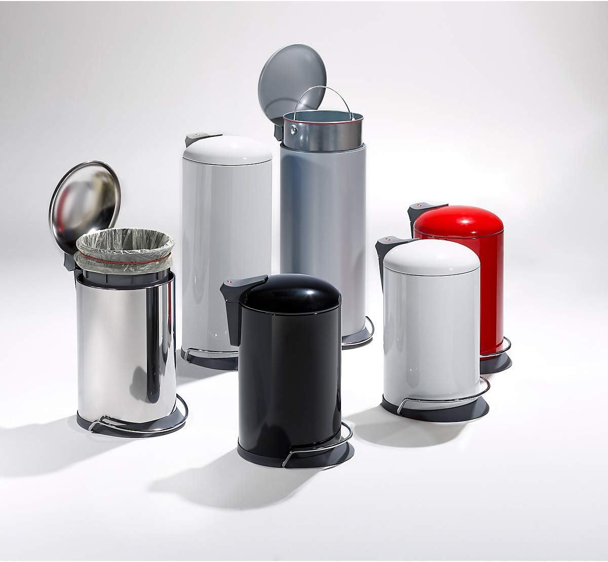 0619-000 Soft Close Hailo ProfiLine Solid /Öko M M/ülleimer aus Edelstahl//Kunststoff, 17 Liter, gro/ßer /Öffnungswinkel, Deckeld/ämpfung
