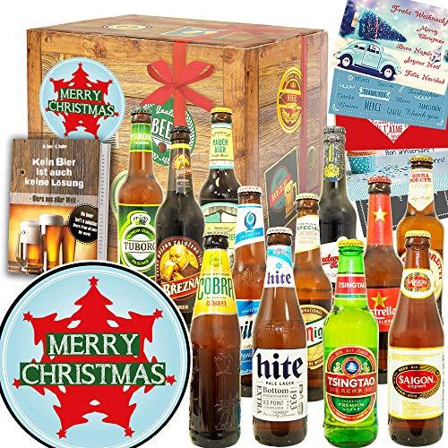 Weihnachtsbaum + Biere aus aller Welt + Geschenk zu Weihnachten