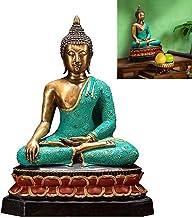 All Copper Statue of Sakyamuni Buddha Statue, Retro Meditation Sitting Buddha Sculpture, Thai Buddha Fengshui Buddha Figur...