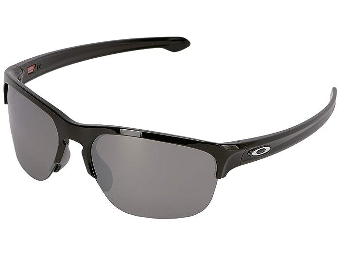 Oakley Sliver Edge (Polished Black w/ Prizm Black Polarized) Sport Sunglasses
