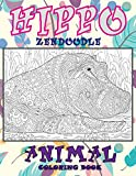 Zendoodle Coloring Book - Animal - Hippo
