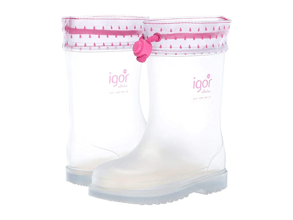 Igor Chufo Transparent (Toddler/Little Kid) (Clear/Fuchsia) Girl