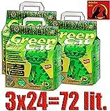 Green Cat Katzenstreu Klumpstreu 3X 24L (72L)
