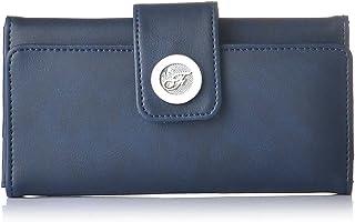 Fostelo Women's Vera Three Fold Wallet (Blue)