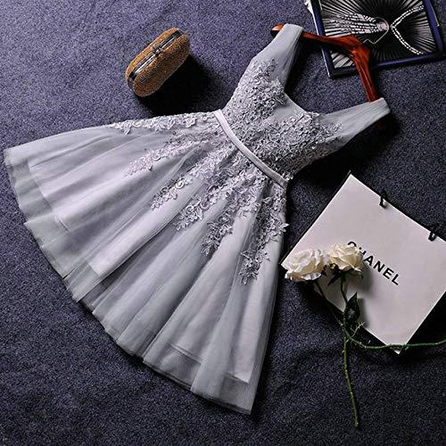 YTG Elegante pérola Rosa Vestidos de Baile 2020 Atractivo Vestido de Baile Curto v pescoço Apliques miçangas Rendas até na Altura Hacer joelho Vestidos de Festa de formatura