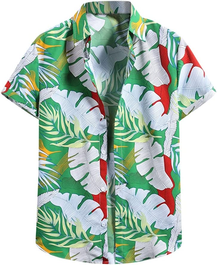 CFSNCM Summer Vintage Shirt for Max 47% OFF Printed Shirts Men Sleeve Short It is very popular