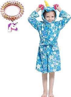 Lantop Kid Bathrobe Unicorn Flannel Robe Unisex Gift All Season Sleepwear