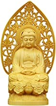 Solid Wood Buddha Sculpture Carving Furniture Home Decoration Wooden Statue Buddha Statue Loft Decoration Home Decoration
