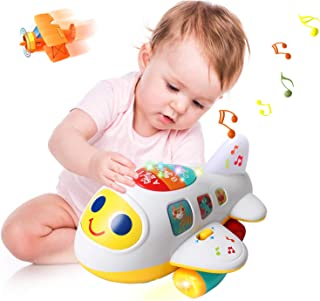 Huile Baby Toys Electronic Airplane Toys with Lights & Music ,Best Kids Early Learning Educational Toys for Toddlers Boys ...