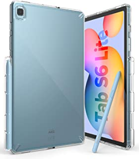 جراب Ringke Fusion مصمم لهاتف Galaxy Tab S6 Lite (2020) غطاء خلفي للجهاز اللوحي مقاوم للصدمات مع قلم شاشة صغير مدمج - شفاف
