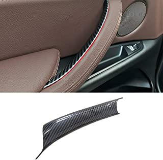 Jaronx Carbon Fiber Door Pull Handle Cover for BMW X5 Series F15/F85 (2014-2018),BMW X6 Series F16/F86 (2015-2018), Interi...