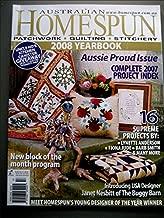 Australian Homespun 2008 Yearbook Patchwork, Quilting, Stitchery