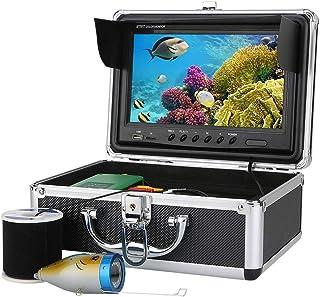 Fish Finders Buscador de Peces DVR de 9 Pulgadas, 15pcs LED Blancos + 15pcs LED Infrarrojos Lámpara Cámara subacuática con...