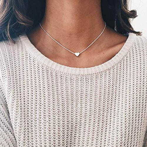 Necklace Tiny Heart Choker Necklace For Women Gold Chain Smalll Love Necklace Pendant On Neck Bohemian Chocker Necklace Jewelry Kk-07Gold