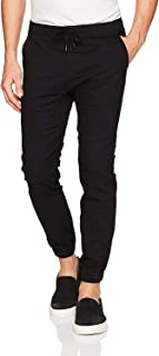 Brooklyn Athletics Men's Twill Jogger Pants Soft Stretch Slim Fit Trousers