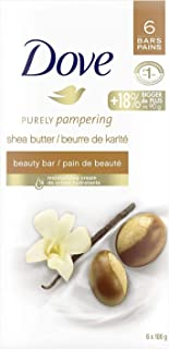 Dove Purely Pampering Beauty Bar for healthy-looking skin Shea Butter and Warm Vanilla 106 g 6 count