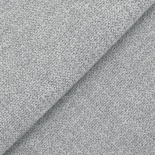DESHOME Roma 5 metri - Tessuto al Metro Idrorepellente Stoffa per divani, cuscini, tappezzeria, arredo (Grigio)