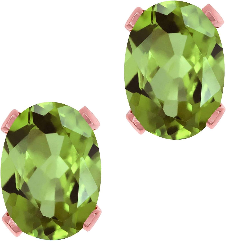 Gem Stone King 1.80 Ct Oval Peridot Gold Brass Ranking TOP6 free 7x5mm Green Rose