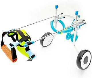 RUNGAO Silla de ruedas ajustable para perro, rehabilitación de piernas para perros pequeños, perros