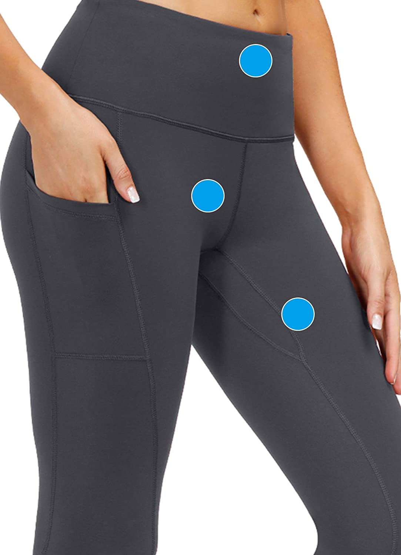 YAWGOUN High Waist Yoga Pants with Pockets,Tummy Control,4 Way Stretch Workout Running Leggings for Women