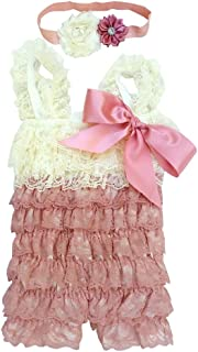 Baby Girl Toddler Girl Ruffle Lace Romper Set