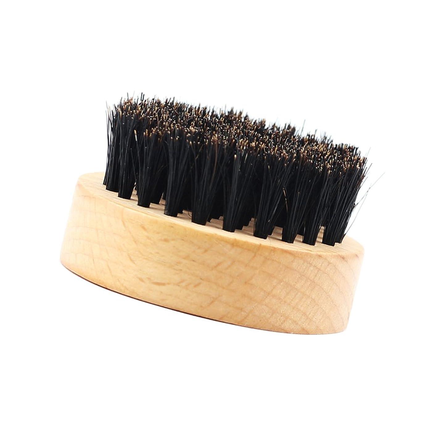 拍手第荷物Baosity 髭ブラシ ひげ剃り 豚毛 天然木ハンドル 口ひげケア 2タイプ選べる - #2