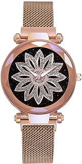 Bravetoshop Women Watches,Fashion Starry Sky Good Luck Quartz Magnetic Buckle Belt Ladies Wristwatch