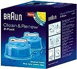 Braun Clean&Charge Cartucce di Ricarica per Rasoio da Barba Elettrico, 2 Confezioni, Compatibili con Tutte le Stazioni Braun SmartCare e Clean&Charge