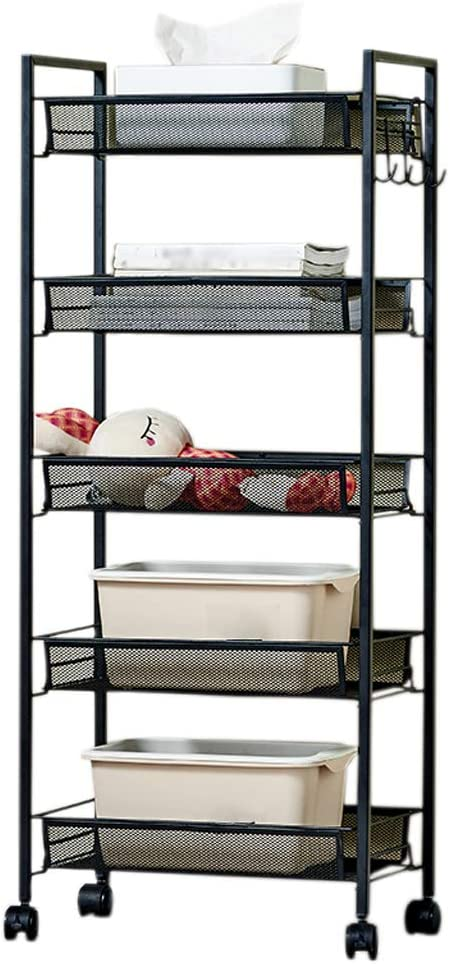 ZHJING Storage Shelf Black Pulley Bathroom Removable shopping Ranking TOP4 Multi-Layer